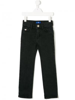 Эластичные брюки слим Stefano Ricci Kids. Цвет: черный