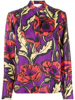 Рубашка Big Blooms La Doublej. Цвет: фиолетовый