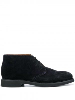 Doucals ботинки дезерты на шнуровке Doucal's. Цвет: синий