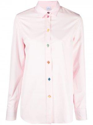 Рубашка на пуговицах PS Paul Smith. Цвет: розовый