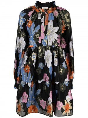 Платье миди Jasmine с принтом Stine Goya. Цвет: синий