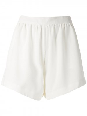 Присборенные шорты Genet Olympiah. Цвет: белый