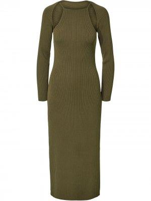Трикотажное платье Estela Nicholas. Цвет: зеленый