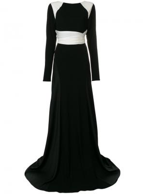 Расклешенное платье с длинными рукавами Vionnet. Цвет: черный