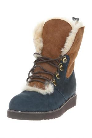 Ботинки PUSHA. Цвет: синий
