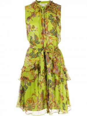 Платье Tilly без рукавов Saloni. Цвет: зеленый