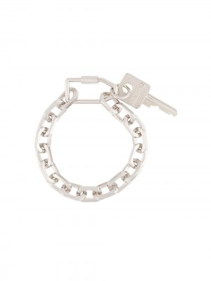Цепочный браслет с подвеской в виде ключа Off-White. Цвет: серебристый