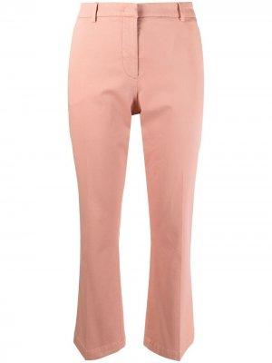 Укороченные расклешенные брюки Pt01. Цвет: розовый