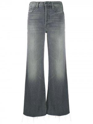 Расклешенные джинсы Mother. Цвет: серый