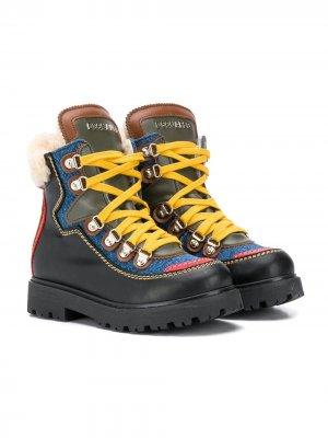 Ботинки на шнуровке Dsquared2 Kids. Цвет: черный