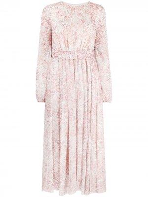 Платье макси с цветочным принтом Giambattista Valli. Цвет: розовый