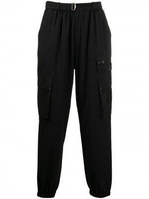 Спортивные брюки с контрастными вставками MCQ. Цвет: черный