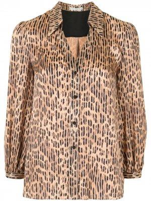 Блузка Sheila с леопардовым принтом Alice+Olivia. Цвет: коричневый