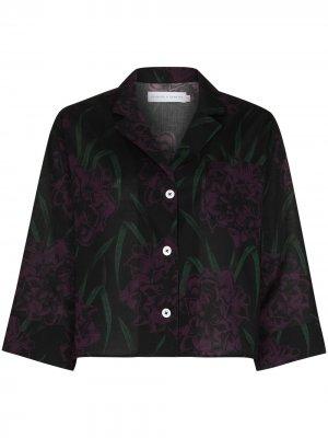 Пижамная рубашка Narcissus Desmond & Dempsey. Цвет: черный