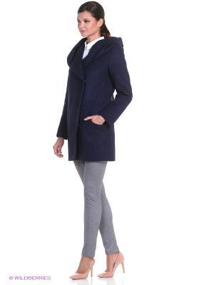 Пальто Anora. Цвет: темно-синий