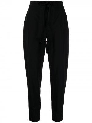 Зауженные брюки с кулиской Pt01. Цвет: черный