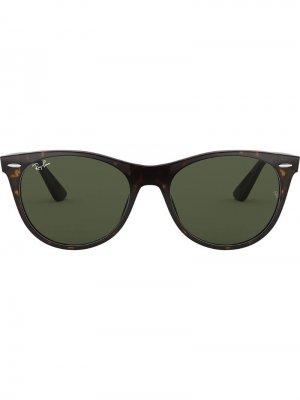 Солнцезащитные очки Wayfarer II Ray-Ban. Цвет: коричневый