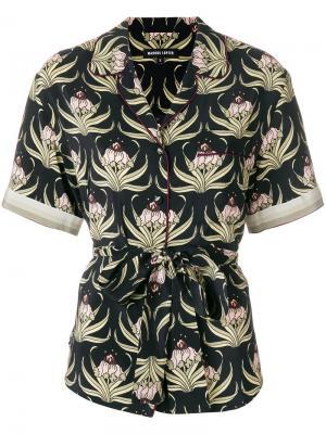 Рубашка с рисунком Desert Flower Markus Lupfer. Цвет: черный
