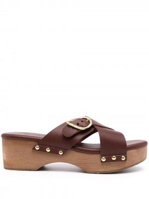 Клоги Marilisa с заклепками Ancient Greek Sandals. Цвет: коричневый