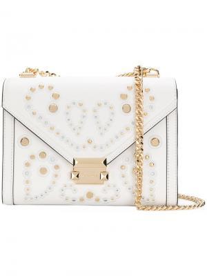 Большая сумка на плечо Whitney Michael Kors. Цвет: белый