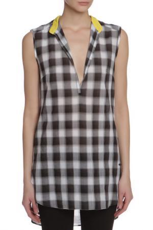 Блузка CNC Costume National C'N'C. Цвет: серый