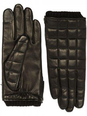 Стеганые перчатки Aceline Agnelle. Цвет: черный