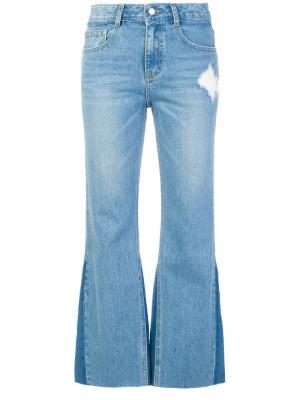 Укороченные расклешенные джинсы SJYP. Цвет: синий