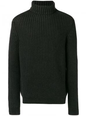 Fisherman knit turtleneck sweater Iris Von Arnim. Цвет: черный