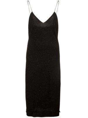 Приталенное платье миди Alice+Olivia. Цвет: черный