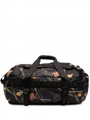 Дорожная сумка с графичным принтом Billionaire Boys Club. Цвет: черный