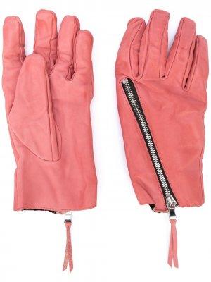 Фактурные перчатки с молнией The Viridi-Anne. Цвет: розовый