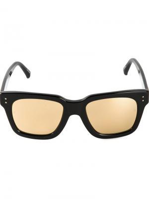 Jeremy Scott smile солнцезащитные очки Linda Farrow. Цвет: черный