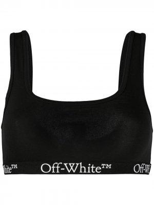 Бюстгальтер с логотипом Off-White. Цвет: черный