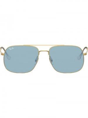 Солнцезащитные очки Andrea в квадратной оправе Ray-Ban. Цвет: золотистый