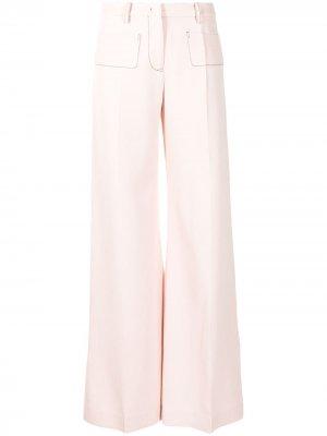 Широкие брюки с завышенной талией Giambattista Valli. Цвет: розовый