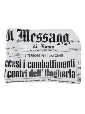 Пепельница Il Messagero Fornasetti. Цвет: белый