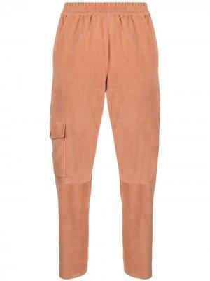 Зауженные брюки Drome. Цвет: оранжевый