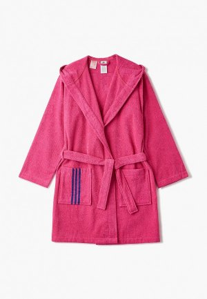 Халат домашний adidas. Цвет: розовый