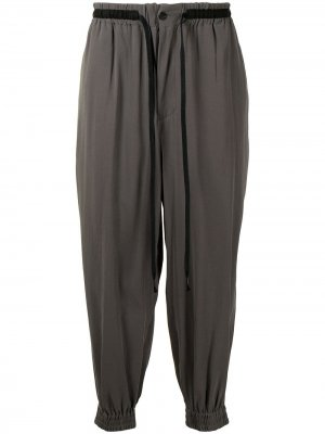 Спортивные брюки с кулиской The Viridi-Anne. Цвет: серый