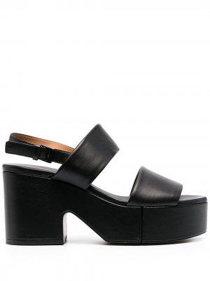 Босоножки Cora с открытым носком Clergerie. Цвет: черный