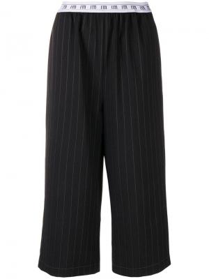 Pinstripe cropped trousers I'M Isola Marras. Цвет: черный