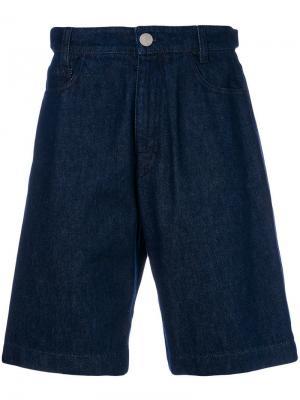 Джинсовые шорты Raf Simons. Цвет: синий