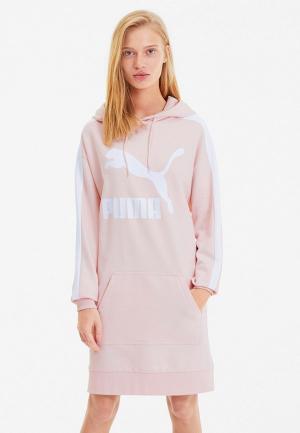 Платье PUMA. Цвет: розовый
