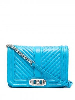 Маленькая сумка через плечо Love Rebecca Minkoff. Цвет: синий