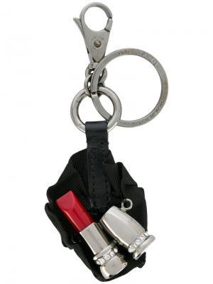 Брелок в форме губной помады Dolce & Gabbana. Цвет: черный