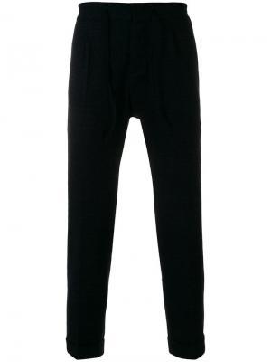 Прямые спортивные брюки Paolo Pecora. Цвет: синий