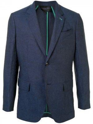 Однобортный пиджак Shanghai Tang. Цвет: синий