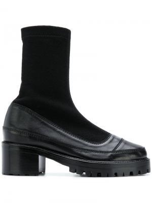 Ботильоны-носки на платформе Nicole Saldaña. Цвет: черный