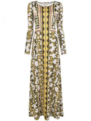 Nellie printed dress Temperley London. Цвет: желтый