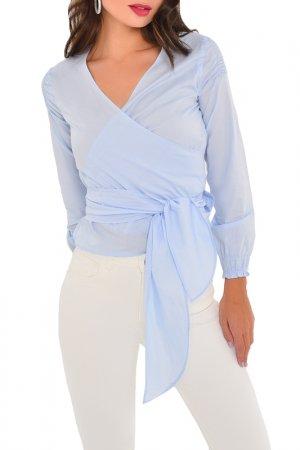 Блузка MONDIGO. Цвет: голубой